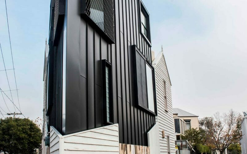 project feature acute house metal cladding systems