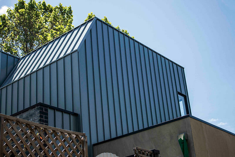 Bosisto Street Features Standing Seam Cladding In