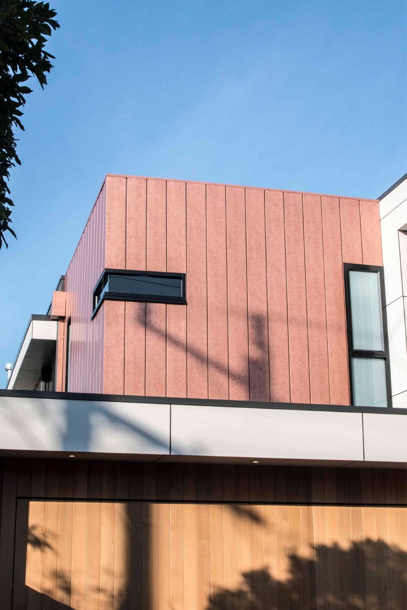 House Features Vestis Copper Cladding In Interlocking Panels