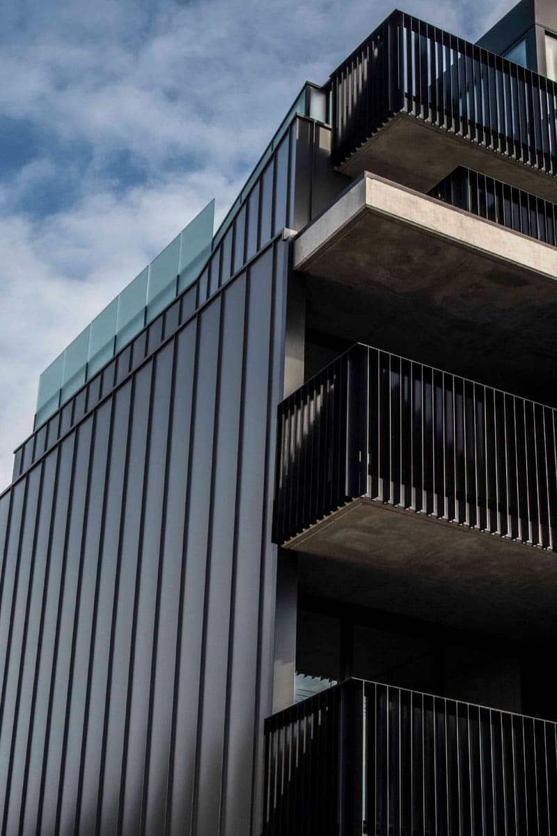 York Apartments Features Standing Seam Cladding By Metal