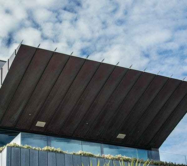 natural copper standing seam metal cladding